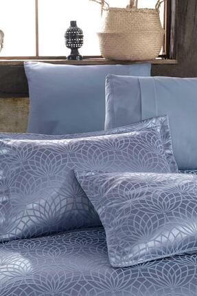 Elart Garden Mavi Çift Kişilik Yatak Örtüsü 2