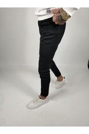 ukdwear Erkek Siyah Italyan Kesim Kot Pantolon 2