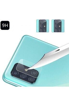 Ally Mobile Samsung Galaxy A51 Tempered Cam Kamera Koruyucu - Şeffaf 2