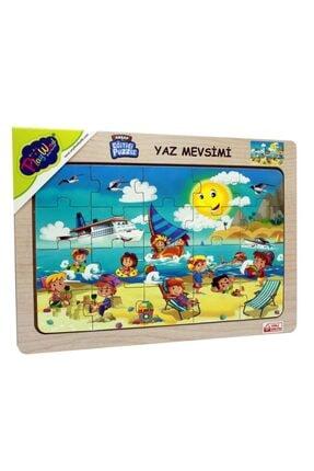 Play Wood Playwood Eğitici Ahşap Puzzle Yaz Mevsimi Ony-117 0