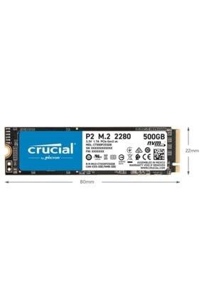Crucial P2 Ct500p2ssd8 500 Gb 2300-940 Mb/s Nvme Pcıe M.2 Ssd 1
