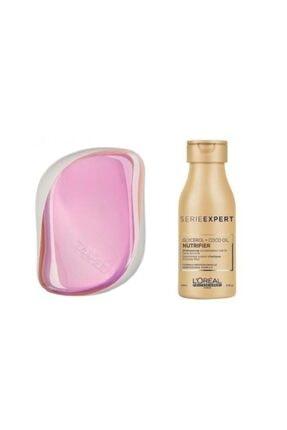 L'oreal Professionnel Nutrifier Şampuan 100ml+ Compact Styler Pink Holographic Saç Fırçası 0