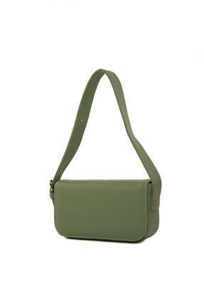 Dora&Dora Kadın Yeşil Kapaklı Kalıp Baget Omuz Ve Çapraz Çanta 1