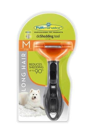 Furminator Longhair M Dog - Uzun Tüylü Köpekler Için Tarak 0