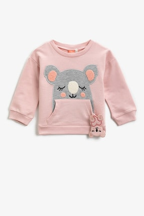 Koton Pembe Kız Bebek Sweatshirt 0
