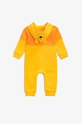 Koton Koton Erkek Bebek Pamuklu Kapüşonlu Çıtçıtlı Sarı Tulum 1knb10441tk 1