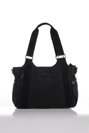 Smart Bags Kadın Siyah Puantiyeli Omuz Çantası Smbk1163-0091 0