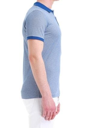 Efor Erkek Koyu Mavi Slim Fit Spor T-shirt Ts 728 1