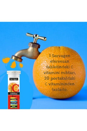 Sorvagen C Vitamini 1000 Mg Plus 3'lü Etki(c Vitamini + D Vitamini + Çinko) -4 Adet X 15 Efervesan Tablet 1