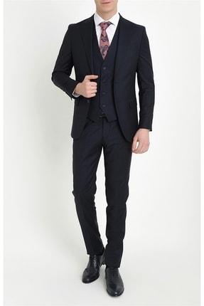تصویر از Erkek Lacivert Slim Fit Klasik Takım Elbise Tk 787