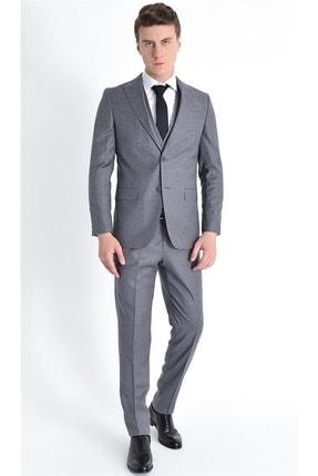 تصویر از Erkek Gri Slim Fit Klasik Takım Elbise Tk 774