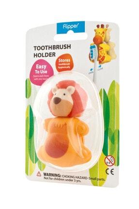 Flipper Flıpper Hıjyenık Diş Fırçası Saklama Kabı - Aslan Figürlü 0