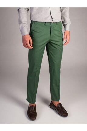 Dufy Yeşil Düz Sık Dokuma Erkek Pantolon - Regular Fıt 0
