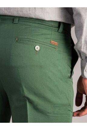Dufy Yeşil Düz Sık Dokuma Erkek Pantolon - Regular Fıt 2