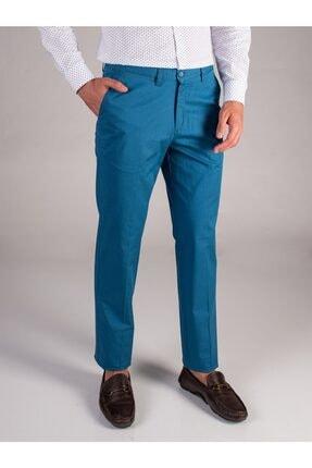 Dufy Petrol Düz Sık Dokuma Erkek Pantolon - Regular Fıt 0