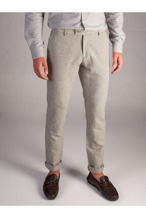 Dufy Yeşil Pamuklu Keten Erkek Pantolon - Slım Fıt 0