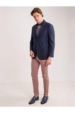 Dufy Lila Pamuklu Likra Erkek Pantolon 3