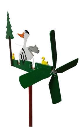 Rüzgaristan Ahşap Rüzgar Gülü Uzun Boyun Ördek 0