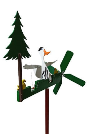 Rüzgaristan Ahşap Rüzgar Gülü Uzun Boyun Ördek 1