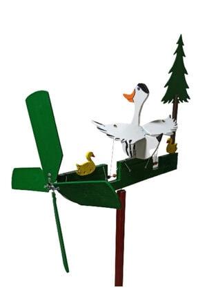 Rüzgaristan Ahşap Rüzgar Gülü Uzun Boyun Ördek 2