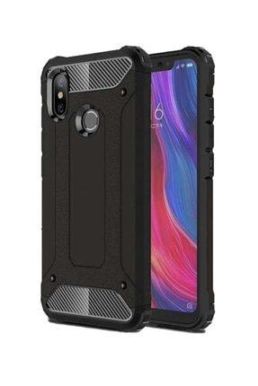TechnoGuru Xiaomi Mi 8 Brick Hybrid Kılıf Siyah 0