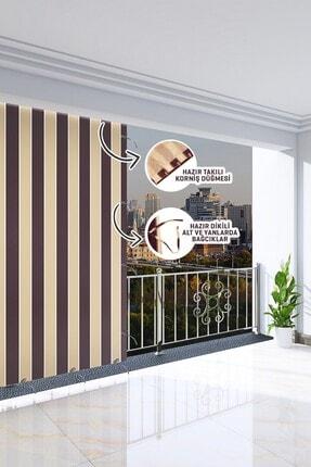 Ataylar Balkon Güneşlik Brandası 300 X 210 Kahverengi Renkli Balkon Perdesi 1