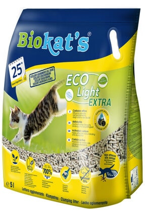 Biokats Biokat's Pelet Kedi Kumu Eco Light Extra 5lt 0
