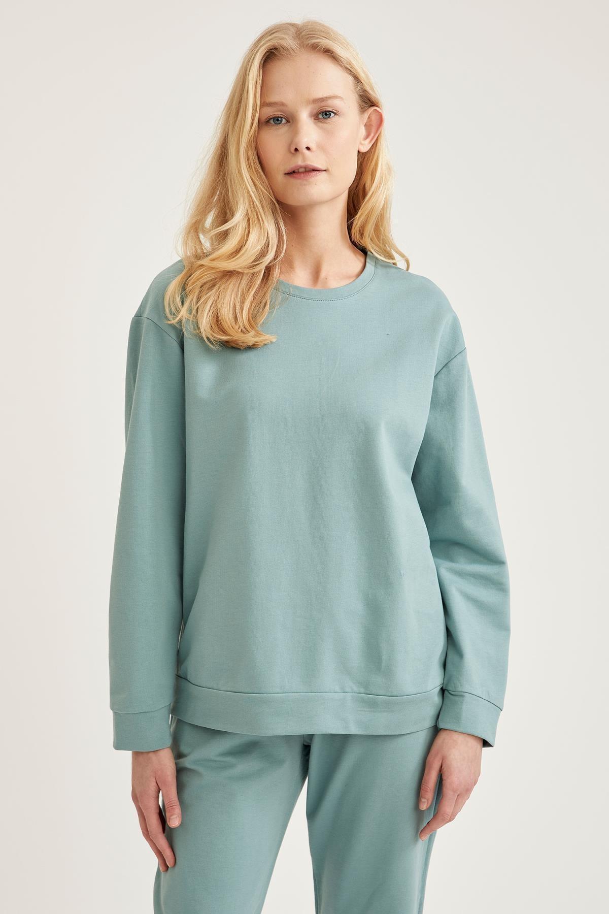 Kadın Yeşil Relax Fit Sweatshirt