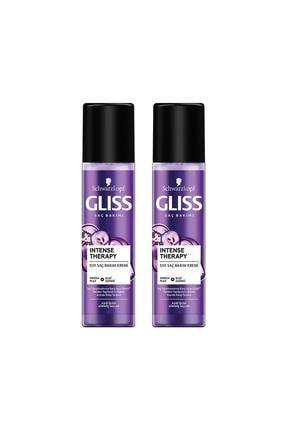 Gliss Intense Therapy Yeniden Yapılandırıcı Durulanmayan Sıvı Saç Kremi 200 ML 2'li 0