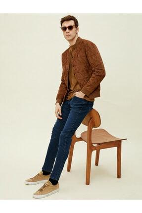 Koton Erkek Lacivert Brad Slim Fit Jean 0
