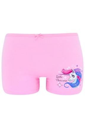 biyokids Kız Çocuk Boxer  Paket Karışık Renk Unicorn Baskılı Boxer 5 Li 3