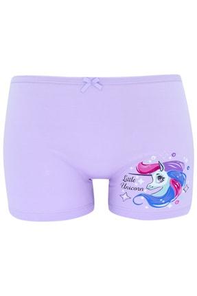 biyokids Kız Çocuk Boxer  Paket Karışık Renk Unicorn Baskılı Boxer 5 Li 4