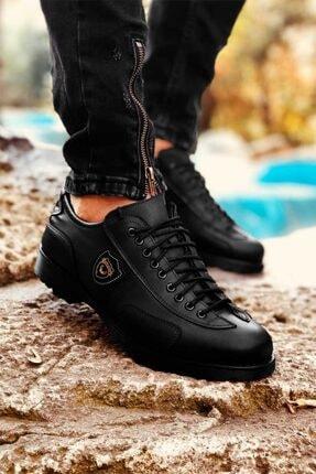 Eser Akış Erkek Siyah Dört Mevsim Rahat Tam Ortopedik Ayakkabı 2