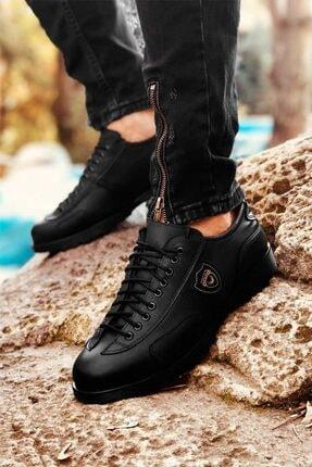Eser Akış Erkek Siyah Dört Mevsim Rahat Tam Ortopedik Ayakkabı 4