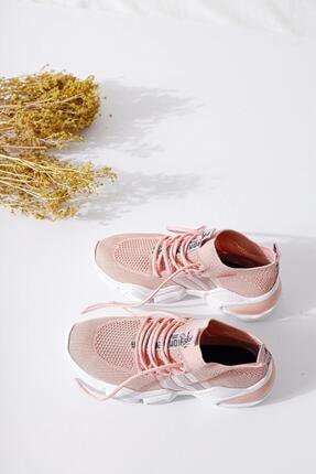 Limoya Kadın Pudra Triko Strech Sneaker 2