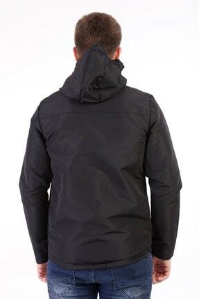 Fk class Erkek  Siyah Kapüşonlu Su Geçirmez Yağmurluk 3