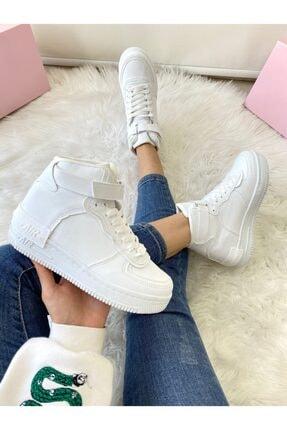ELSESHOES Kadın Bıleklı Beyaz Spor Ayakkabı 1