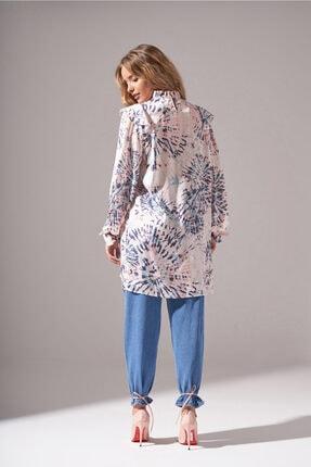 Mizalle Batik Desenli Bluz (Somon) 3