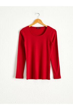 LC Waikiki Kadın Kırmızı  Tişört 0