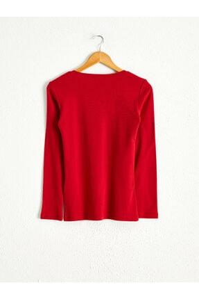 LC Waikiki Kadın Kırmızı  Tişört 1