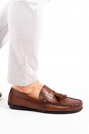 MPP Hakiki Deri Loafer Erkek Ayakkabı Atk6800 Taba 3