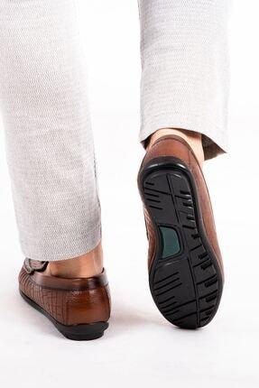 MPP Hakiki Deri Loafer Erkek Ayakkabı Atk6800 Taba 4