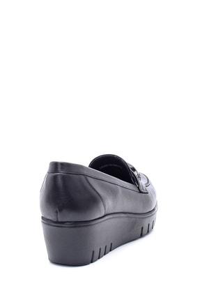 Derimod Kadın Deri Püskül Detaylı Dolgu Topuk Ayakkabı 3