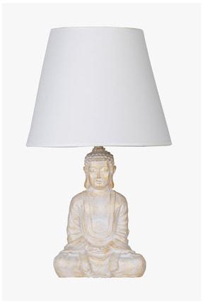 Modern Dizayn Buda Abajur Beyazgold-beyaz qdecabjbuda011