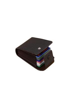 Kemer Dünyası Mbl Unisex 11 Bölmeli Siyah Kredi Kartlık - Cüzdan 4