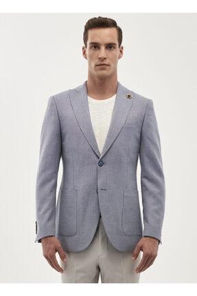 ERKEK Mavi Slim Fit Ceket resmi