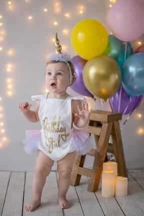 Picture of Ekru Kız Çocuk Tulum Coco Birthday Girl