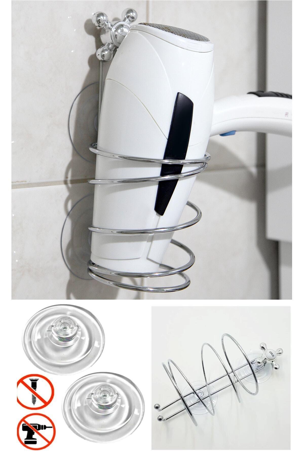 Vantuzlu Metal Saç Kurutma Makinesi Askısı