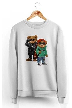 Burlu Kanka Cool Ayılar Üç Iplik Sweatshirt 0