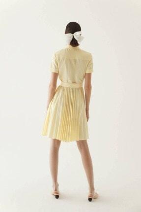 Rue Sarı Kuşaklı Midi Gömlek Elbise 4
